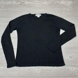 Chico's Design black long sleeve shirt